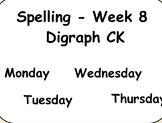 Phonics Lesson Week 8: Digraph CK