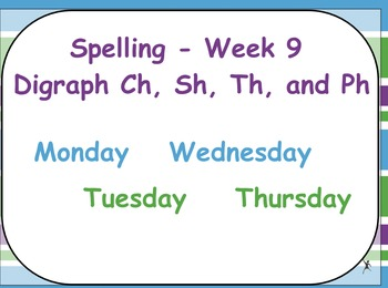 Phonics Lesson Week 9: Digraphs Sh, Th, Ch, Ph, and Wh