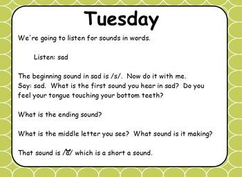 Phonics Lesson Week 1 - Short Vowels A and I