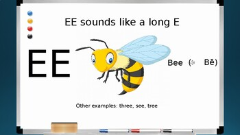 Phonics Lesson and Smart Board Game for Vowel Digraphs Part 1