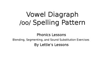 Phonics Lesson and Activities - oo as in moon Vowel Diagraph K 1st 2nd 3rd Grade