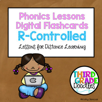 Phonics Lessons Digital Flashcards for Distance Learning - R-Controlled Vowels
