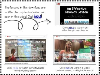 Phonics Lessons for REACH FOR READING Grade 2 Read On Your Own Books