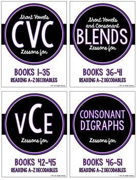 Phonics Lessons for Reading A to Z Decodable Books #1-68 (THIS BUNDLE SAVES $!)