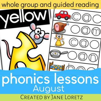 Phonics Lessons for whole group or guided reading (August)