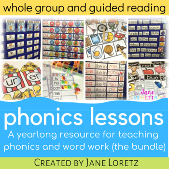 Phonics Lessons for whole group or guided reading BUNDLED