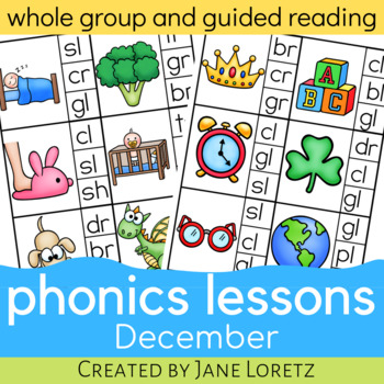 Phonics Lessons for whole group or guided reading (December)