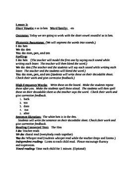 Phonics Lessons with Decodable Passages: short e