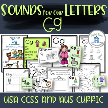 Phonics - Let's Look at the Letter and Sounds for  'Gg'