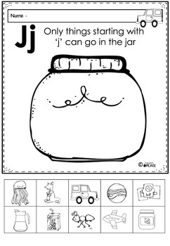 Phonics - Let's Look at the Letter and Sounds for  'Jj'