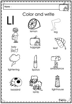 Phonics Let's Look at the Letter and Sounds for Ll