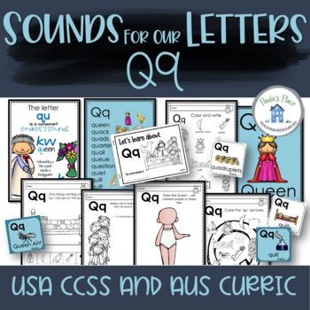 Phonics - Let's Look at the Letter and Sounds for  'Qq'