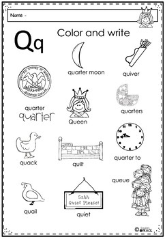 Phonics Let's Look at the Letter and Sounds for Qq