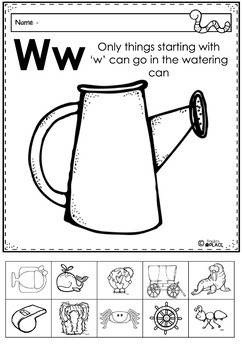 Phonics - Let's Look at the Letter and Sounds for  'Ww'