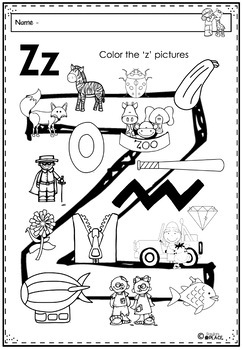 Phonics Let's Look at the Letter and Sounds for Zz