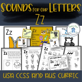 Phonics - Let's Look at the Letter and Sounds for  'Zz'
