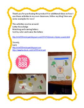 Kindergarten Phonics, Letters, and Words