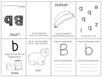 Phonics / Letter B Mini Book Craft