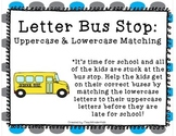 Literacy Center: Back to School Letter Matching Word Work Center