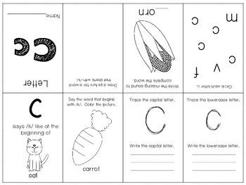 Phonics / Letter C Mini Book Craft