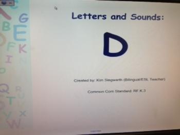 Phonics: Letter D