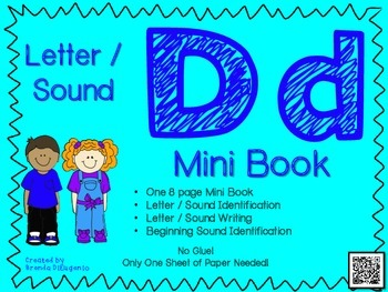 Phonics Letter D Mini Book Craft By Abundant Teaching Tpt