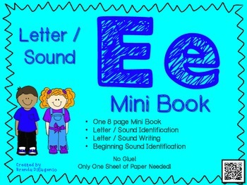 Phonics / Letter E Mini Book Craft