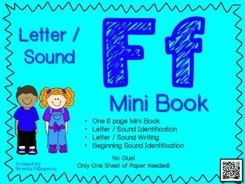 Phonics / Letter F Mini Book Craft