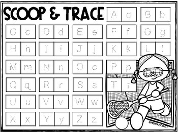 Phonics Word Work Game, Kindergarten - Lacrosse Theme
