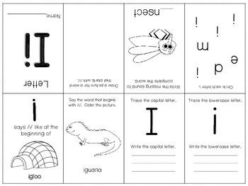 Phonics / Letter I Mini Book Craft