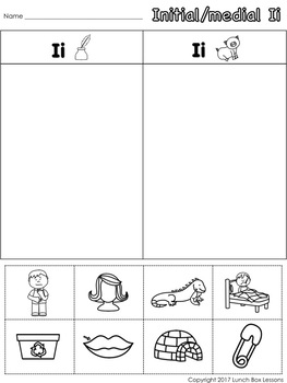 Letter Ii- Benchmark© Phonics Curriculum-Kindergarten Unit 3