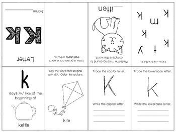 Phonics / Letter K Mini Book Craft
