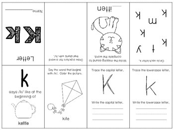 Phonics / Letter K Mini Book Craft