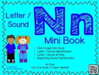 Phonics / Letter N Mini Book Craft