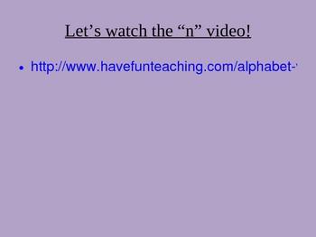 Phonics Letter N Powerpoint/flipchart