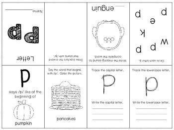 Phonics / Letter P Mini Book Craft