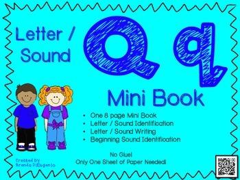 Phonics / Letter Q Mini Book Craft