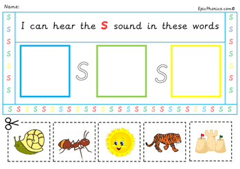 Free Phonics Bundle Letter S