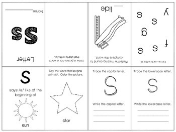 Phonics / Letter S Mini Book Craft
