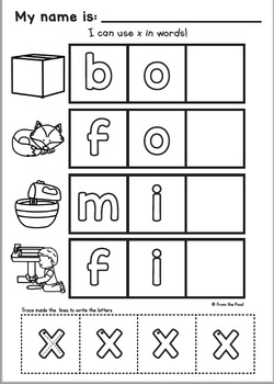 Phonics Letter Sound X - {Alphabet Sound of the Week Packet}