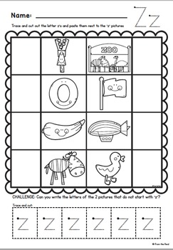 Phonics Letter Sound Z { Alphabet Sound of the Week Packet}