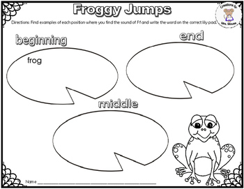 Phonics- Letter Sounds - Froggy Jumps - Letter F