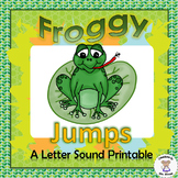 Beginning, Middle, and Ending Sounds - Froggy Jumps - Letter F