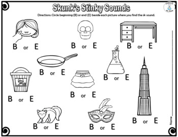 Letter Sounds - Skunk's Stinky Sounds - Blend SK