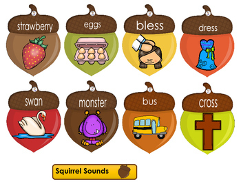 Phonics- Letter Sounds - Squirrely Sounds - Letter S
