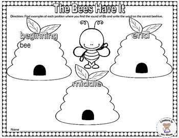 Letter Sounds - The Bees Have It - Letter B
