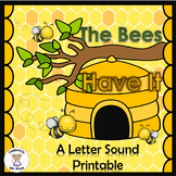 Beginning, Middle, and Ending Sounds- The Bees Have It - Letter B