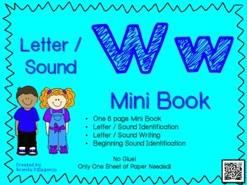 Phonics / Letter W Mini Book Craft