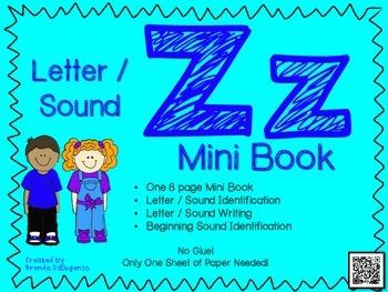 Phonics / Letter Z Mini Book Craft