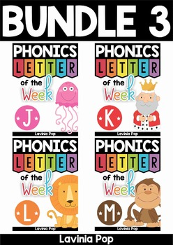 Phonics Letter of the Week AUSTRALIAN BUNDLE 3